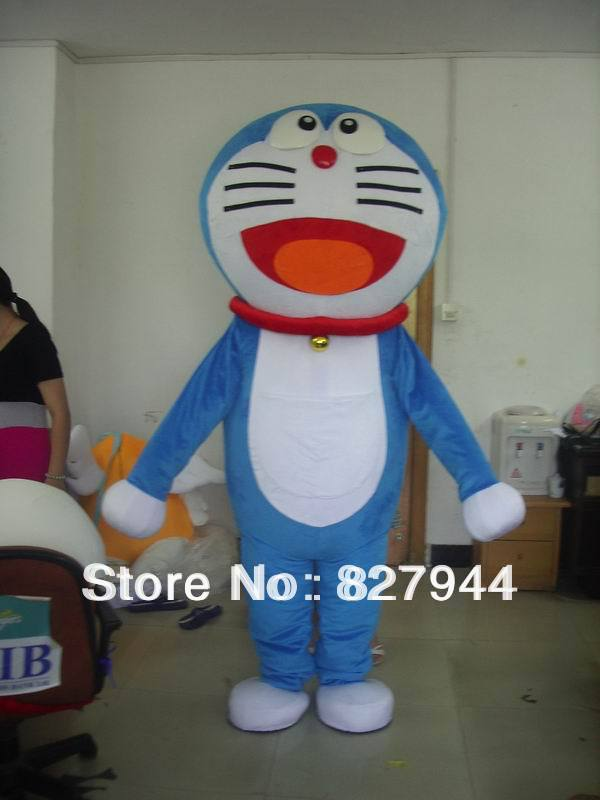 Doraemon cat cartoon Mascot Costume Fancy Dress adult one size suit