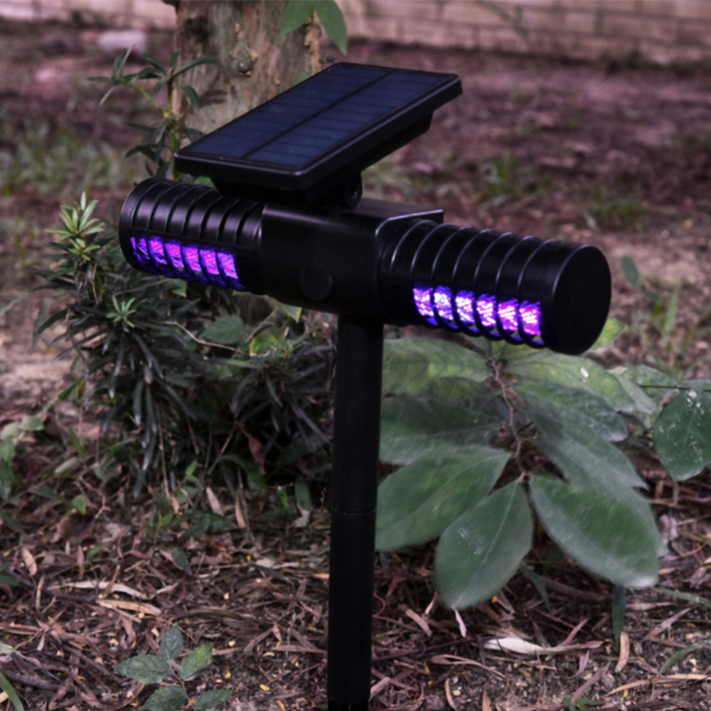 Solar Mosquito Killer Whole Night Lamp Outdoor Villa Yard Garden Waterproof LED Light Lawn Camping Lamp Large Bug Zapper Light