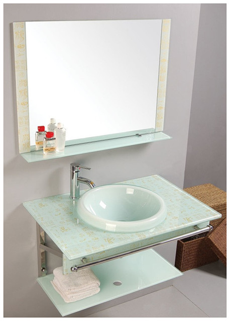 Toilet Ceramic Basin Wash Combination Of Glass Marble Pool Wall Mounted Vanity