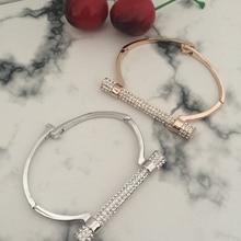 D Shape Metal Bracelet
