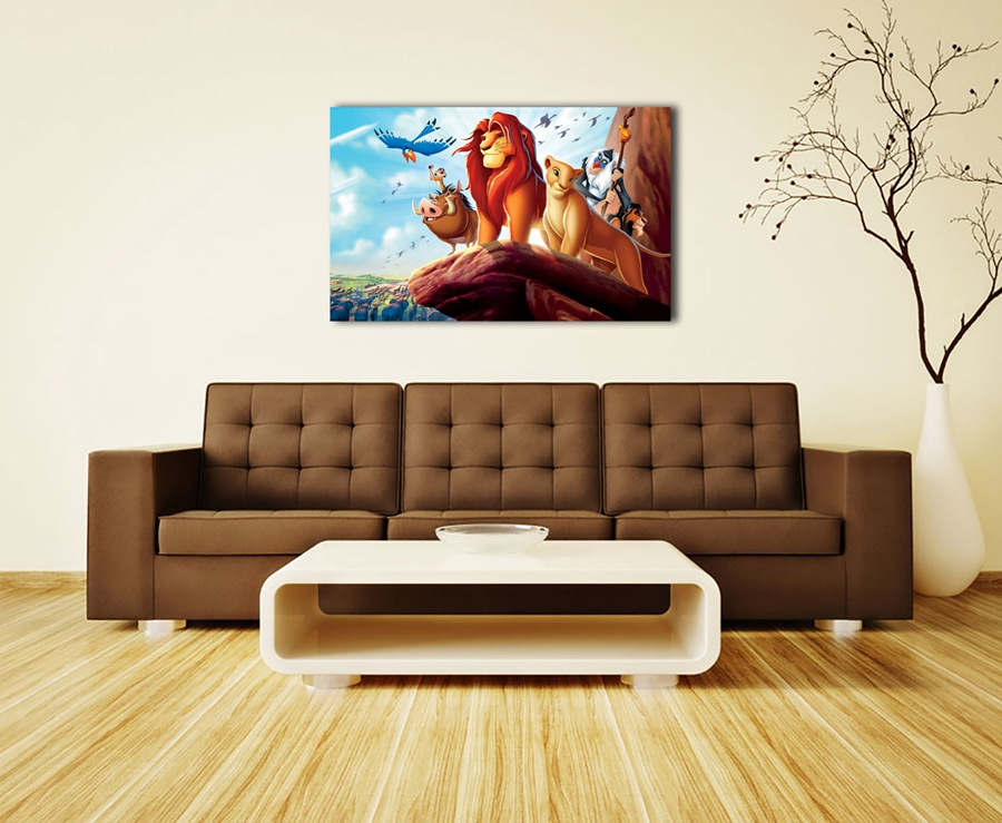 A2995Simba Timon The Lion King Children Animation.HD Canvas Print Home  Decoration Living Room Bedroom Wall Pictures Art Painting In Painting U0026  Calligraphy ...