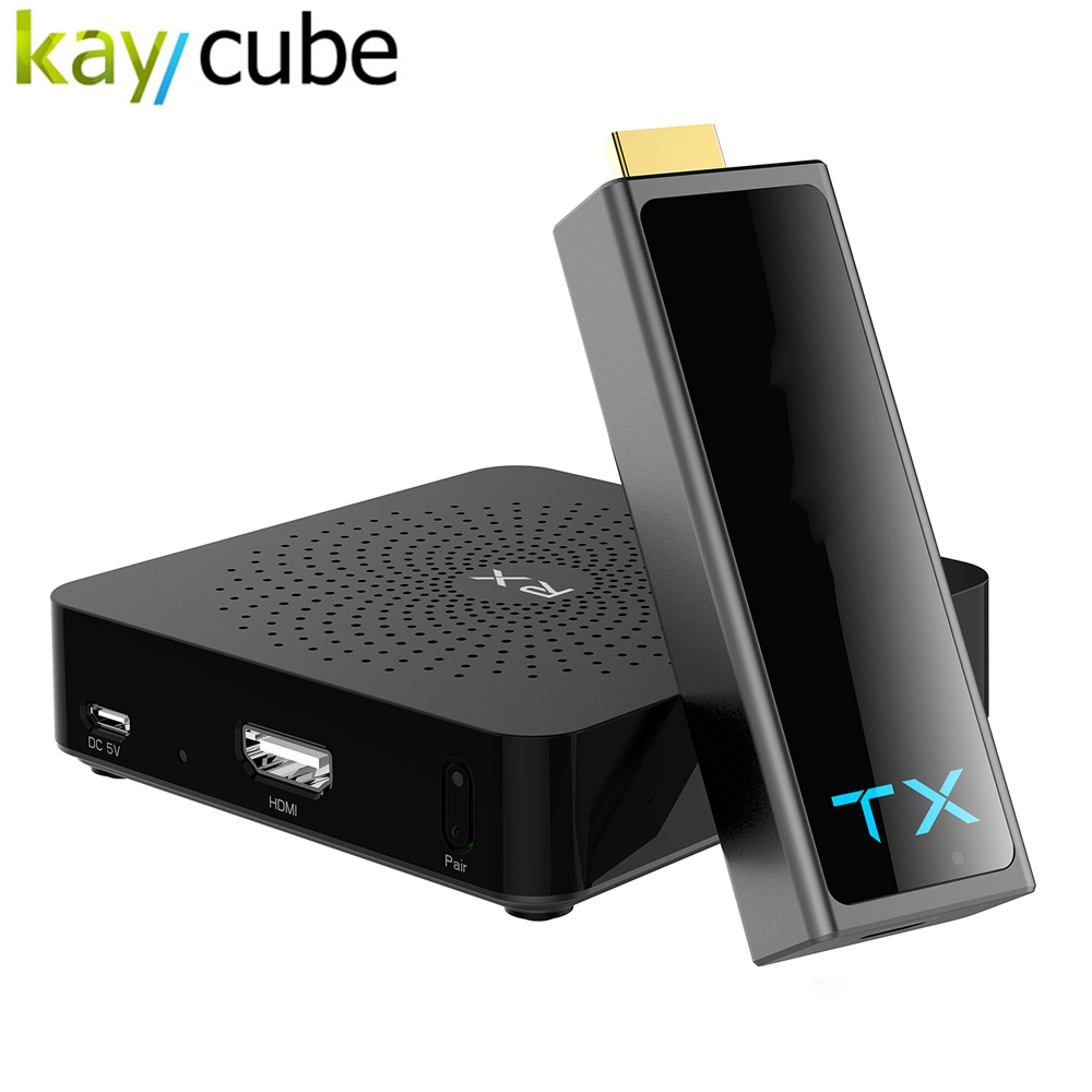 Kaycube W2H MINI2 3D Wireless 30M 1080P HDMI Wireless Transmission Kit TX Host+RX Host HDCP1.4 Up to 30m / 100FT For HDTV DVD