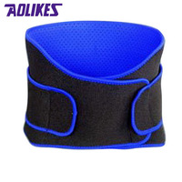 AOLIKES Breathable Sports Pressurized Back Waist Support Plus Size Elastic Fitness Bodybuilding Brace Weightlifting Belt