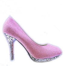 Crystal Women Shoes Pink Wedding Shoes Woman Bridal Red Bottom High Heels Shoes Sexy Women Pumps Glitter Gorgeous Bridal Shoes стоимость