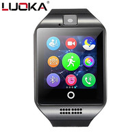 LUOKA Smart Watch S18 Passometer With Touch Screen Camera Support SIM TF Card Bluetooth Smartwatch For