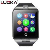 Luoka reloj inteligente S18 passometer con pantalla táctil cámara de apoyo SIM TF tarjeta Bluetooth smartwatch para Android IOS teléfono
