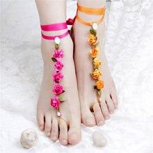 Горячие продажи ножные браслеты для женщин лодыжке браслет cheville ног ювелирные изделия enkelbandje tobilleras mujer цепь ноги босиком пляж ювелирные изделия