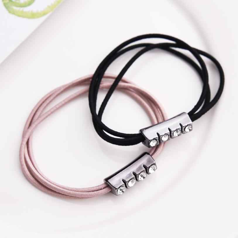 Simple Women'S Single Row Drill Three Strands Of Diamond Jewelry Female