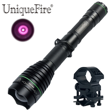 UniqueFire Newest UF1508 Osram IR 940nm Led 38mm lens Flashlight Night Vision Lotus Attack Head Torch 3 Modes+QQ07 Scope Mount