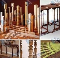 Jinan Acctek cylinder /rotary cnc wood grinding machine 2 axis cnc wood lathe machine