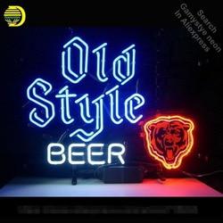 Neon Teken voor N ew Oude Stijl Beer Neon Lamp Teken Beer Bar Pub Decoratie Neon Buis Teken handwerk Publicity teken Winkel Displays