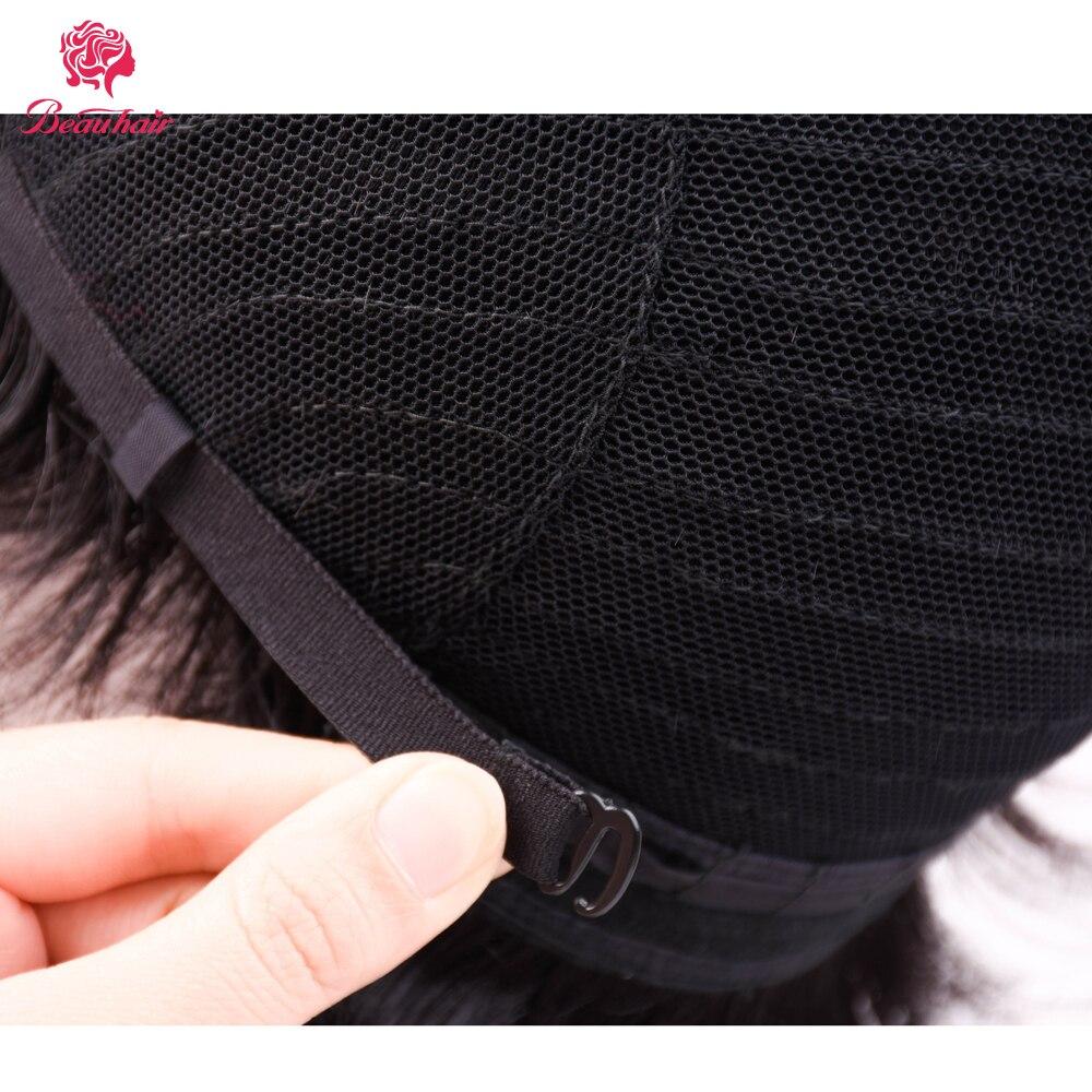 Beau волос бразильский не Волосы remy прямой короткий человеческих волос парики Анна для черный Для женщин парик 360 с волос Бесплатная доставка