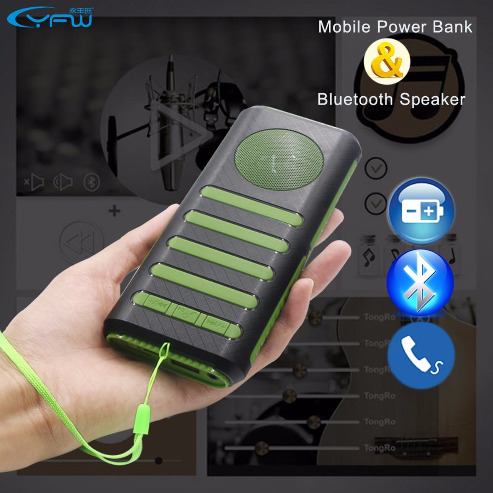 Portable Charger Generator Portable Bluetooth Speaker Homemade Net Playz 12x6 Portable Soccer Goal You Tv Player Pc Portable: YFW 10000mAh 2 In 1 Power Bank Wireless Bluetooth Speaker