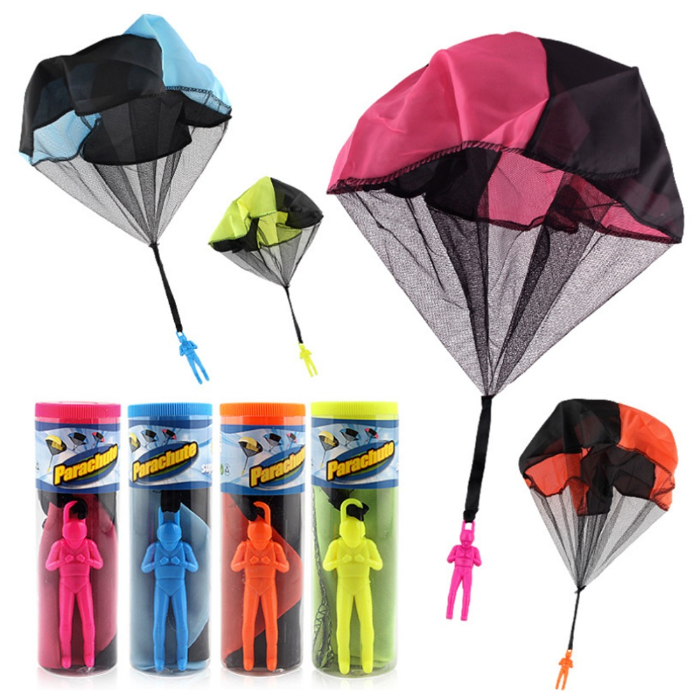 1/2pc Mini Hand Throwing Parachute Outdoor Sports Fly Kids Toy Playing Soldier Parachute Fun Flying Educational Toy for Children