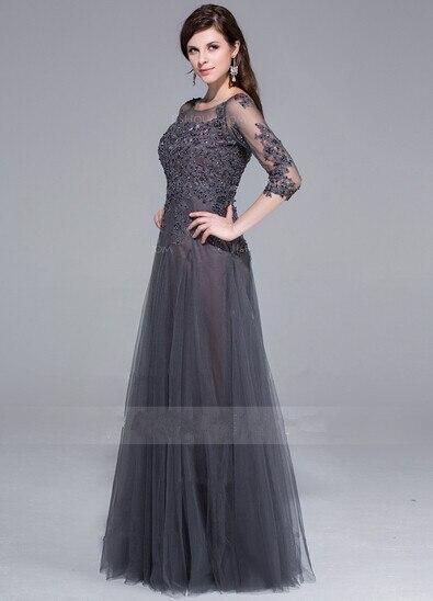 Long Gray Evening Dresses