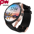 Mtk6580 pinwei kw88 hombres mujeres smart watch para android y ios bluetooth smartwatch 1.39 ''hd pantalla pulsera de la muñeca para el iphone