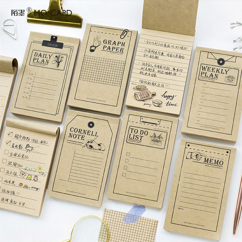 Vintage Kraft paper weekly plan notebook diary book material escolar memo notepad kawaii stationery school supplies dolphin kid notebook cartoon password diary lockable korea stationery notebook kawaii notepad school supplies lovely xmas gift