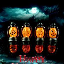 new halloween pumpkin scene decorative props luminous night light kerosene lamps halloween party decoration supplies hot sale - Halloween Party Decorations Cheap