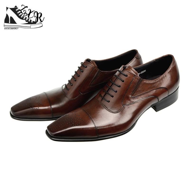 Moda Negócios Couro Italiano Homens 2 Preto De Vestido 1 Sapatos Genuíno Dos Zuoxiangru Oxford xgYzwqvY