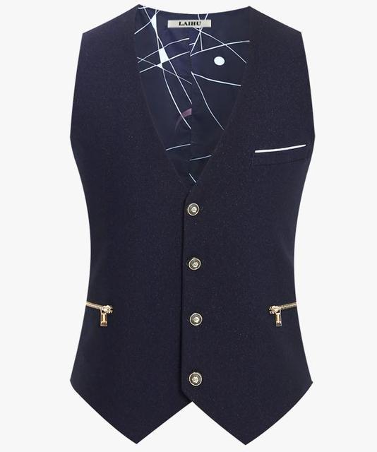 Ropa hombre delgado Masculino Colete chaqueta sin mangas de algodón hombre del chaleco del juego del chaleco del vestido chalecos