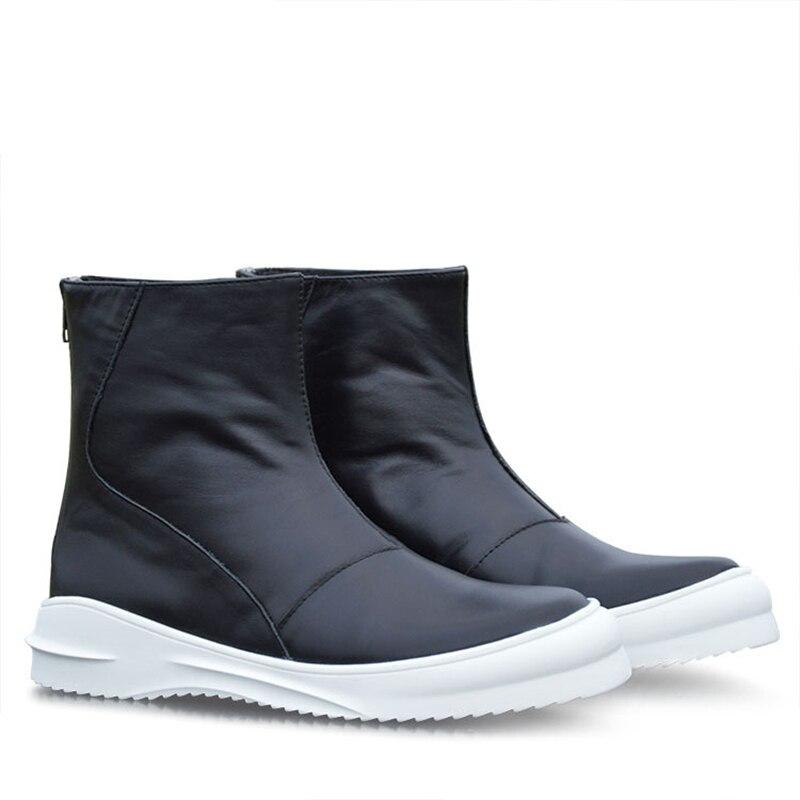 Semelle Masculins Épaisse Plate Mode Hightop Taille F013 Occasionnels Boot Haute Harajuku Adulte Top Cuir Véritable De Marque Chaussures forme Plat Hommes Marée lTF1JcK