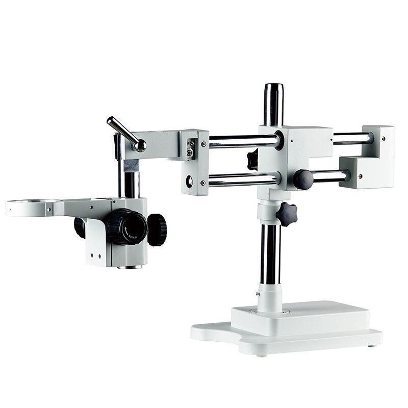 Bras universel de support de support de Microscope stéréo trinoculaire de Zoom industriel de laboratoire de Double Boom accessoires de Microscopio de 76mm