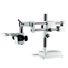 Универсальный двойной бум лаборатория промышленный зум Тринокулярный Стерео микроскоп стенд держатель Кронштейн Arm 76 мм Microscopio аксессуары