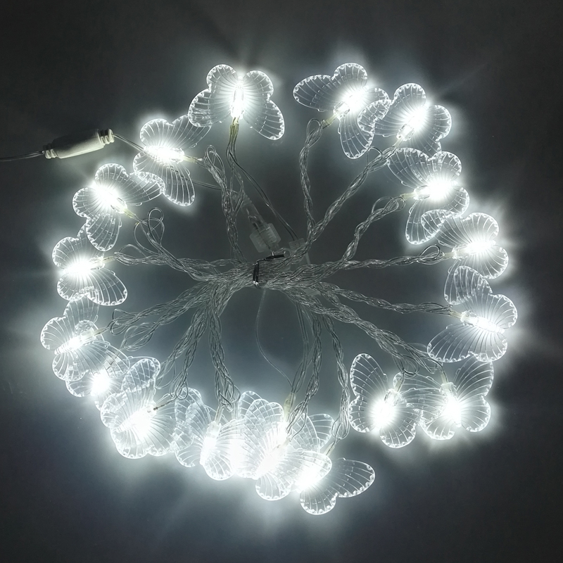 5 м светодиодные гирлянды праздник огней бабочка строка огни на открытом воздухе рождественские огни украшения герлянда свадебные украшения огни
