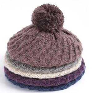 Image 5 - Charles Perra kobiety kapelusz szalik zestawy jesień zima nowy dzianiny kapelusze moda elegancki Casual ciepły Beret styl kobiet czapki 2321