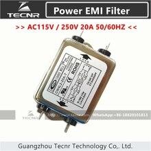CW4L2-20A-T Single Phase Power EMI filter AC 115V / 250V 20A 50/60HZ