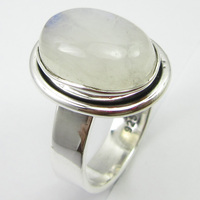 Fine Silver Rainbow Moonstone Ring Size 7.25 Women's Engagement Jewelry Unique Designed