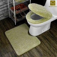 Toilet Seat Cushion WC Padded Toilet Seat Cover Warm Bathroom Mats Set Accessories Asiento Inodoro Household Supplies SKS001