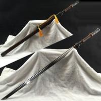 Chinese Sword 1045 Carbon Steel Blade Full Tang Sharp Korean Samurai Sword Rose Wood Zinc Alloy Decoration Supply