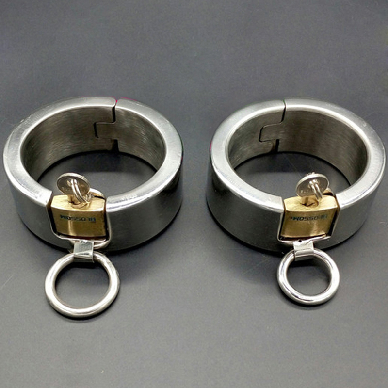 Adult Games BDSM Bondage Lock Handcuffs For Sex Slave Fetish Wrist Restraints Hand Cuffs Sex Toys For Woman Men Metal Sex-Toy fetish sex furniture harness making love sex position pal bdsm bondage product erotic toy swing adult games sex toys for couples
