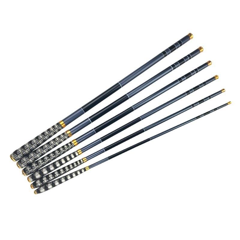 Newly Telescopic Carbon Fiber Super Hard Ultra Light Carp Fishing Pole Stream Fishing Spinning Rod Hooks