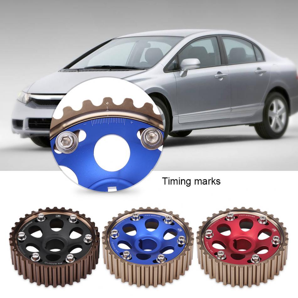 One Pair Timing Camshaft Gear Aluminum Racing Camshaft Gear Set for Honda Integra Civic for B16A/B16B/B18C Engine Car-Styling