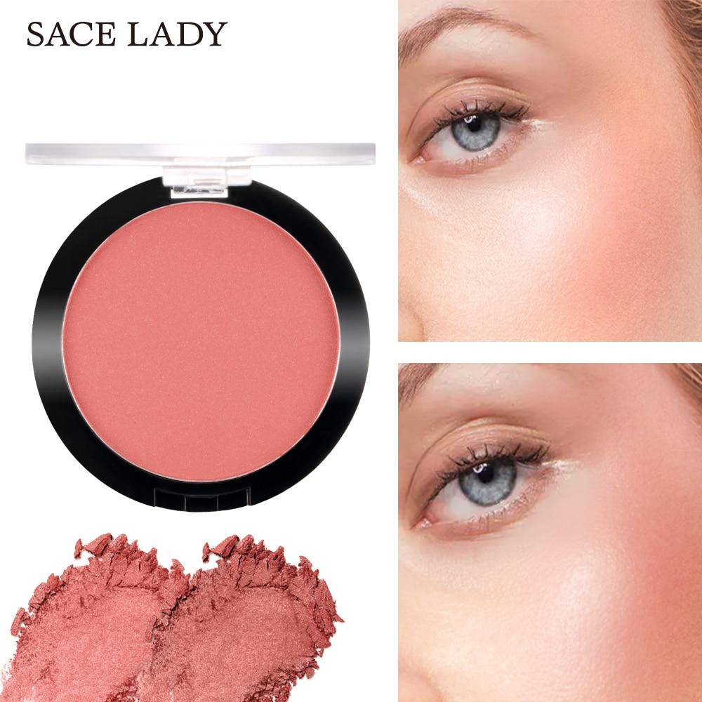 SACE LADY Face Blusher Powder Makeup Matte Blush Professional Cheek Rouge Make Up Natural Peach Cosmetic