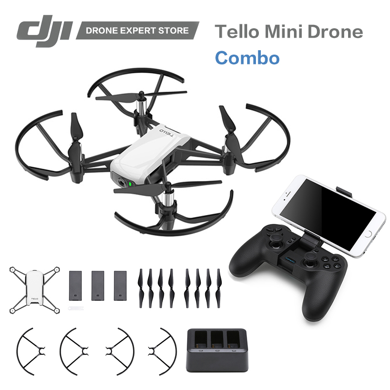 RYZE Tello / Drone Combo DJI Tech RC Controller 720P Video FPV Camera RC Drone Toy Gift for Children with Coding Education APP wireless video fpv rctransmitter receiver 5 8g 200mw 23dbm 8 channels for rc drone qav250 cctv camera video camera toy parts