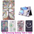 Colorful Tree Tablet PC Case for Samsung Tab E T560 Anti-Dust Drop Resistance Waterproof Cover Shell Protective Skin Bag Housing