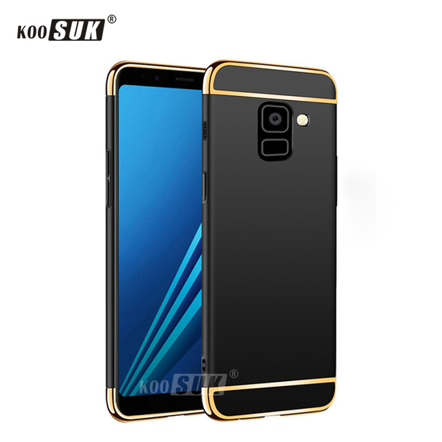 new style fb5a3 f40bf US $3.49 30% OFF|Aliexpress.com : Buy For Samsung A8 A8+ Plus 2018 Case 3  in 1 Phone Back Cover For Samsung Galaxy A8 Plus 2018 Original PC Hard  Shell ...