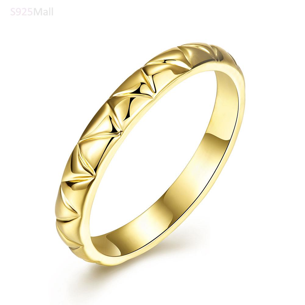 Classic plain Ring gold color engagement Rings For Men Women USA ...