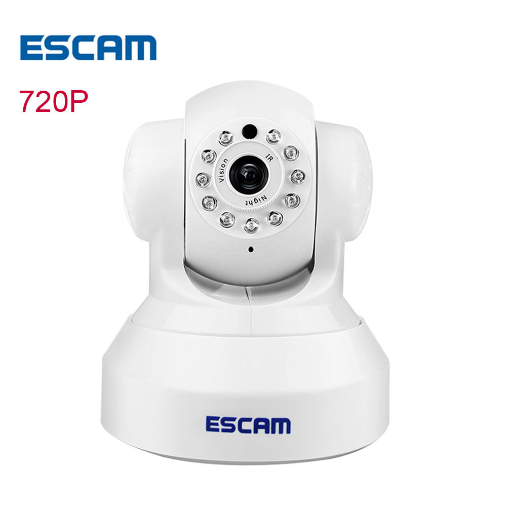 ESCAM QF001 ip camera wi-fi HD wireless 720P CCTV home security camera wifi indoor network Night Vision ip cam Security Camera escam qf002 hd 720p cctv wifi wireless ip camera night vision network ip cam wi fi home security camera de deguridad ip cameras