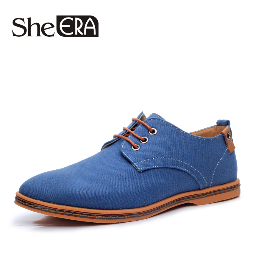 New 2017 Fashion Spring Summer Casual Men Shoes Men Lace-up Flats Breathable Men Canvas Shoes Size 38-48 spring summer men casual shoes fashion leather lace up driving shoes breathable moccasins men shoes flats