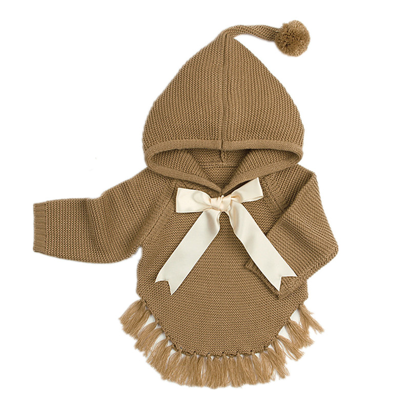 Sweater Cardigan Coat Knitted-Jackets Newborn Baby-Girls Autumn Winter for with Bow Boys