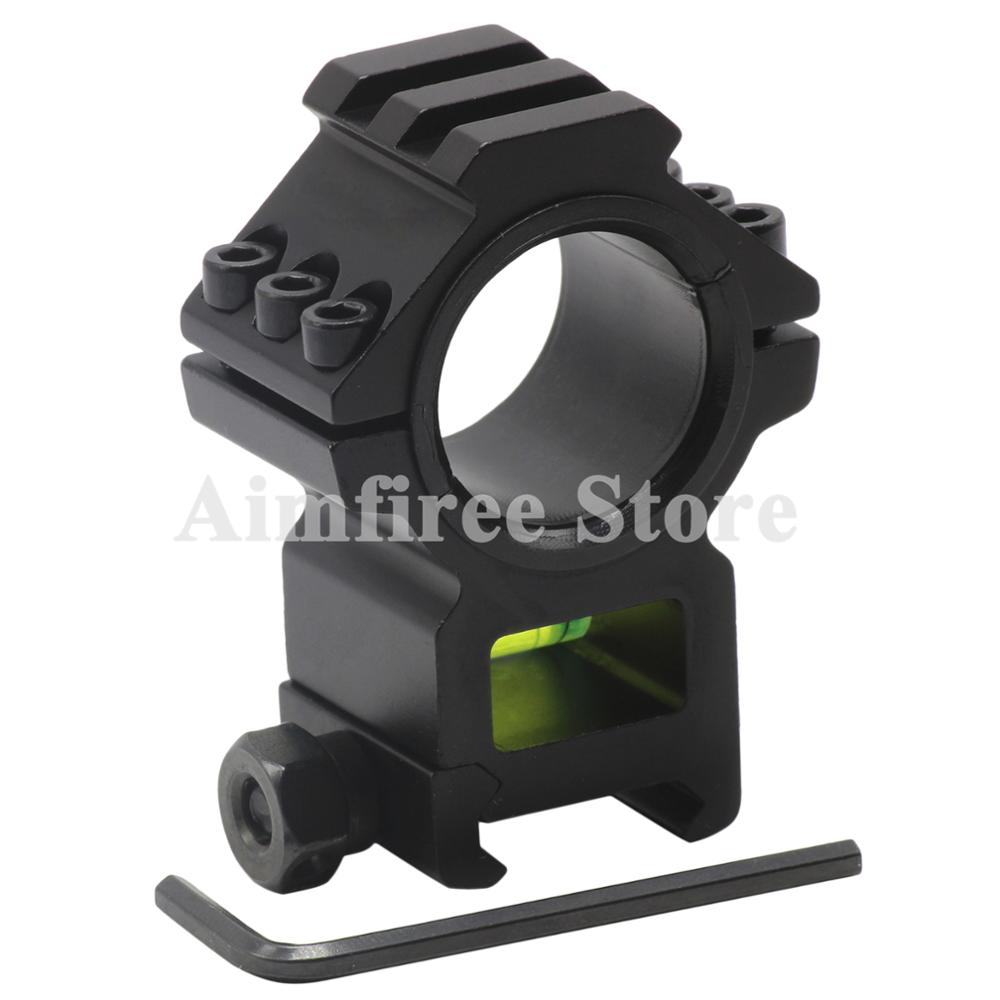 Tactical 30mm 25.4mm Scope Ring Riflescope Mount with Bubble Level Top Rail fits 20mm Picatinny Weave Rail|Scope Mounts & Accessories| |  - title=