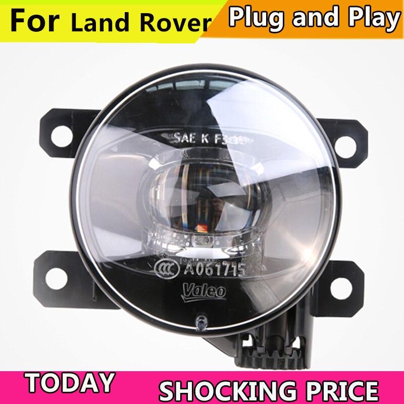 Car Styling FOR VALEO Fog Lamp for Land Rover Range Rover Discovery Freelan LR2 LR3 LR4 Defender Fog Light Fog Lamp LED DRL