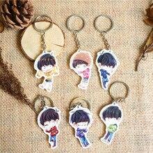 6pcs/set Cute Anime Osomatsu-san Osomatsu san Matsuno Karamatsu Jyushimatsu Chaveiro Key Holder San Brothers Fans Keyrings