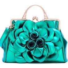 QIAODUO розовый зеленый цветок модные сумки женские роскошные сумки кожа женские сумки почтальон цветы свадебные красные сумки большие