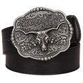 Cool texas cowboy cinturón tauren vendimia masculina cinturones occidental salvaje estilo vaquero cinturón de los hombres correa de cuero de Vaca cráneo Pantalones Vaqueros de cintura correa
