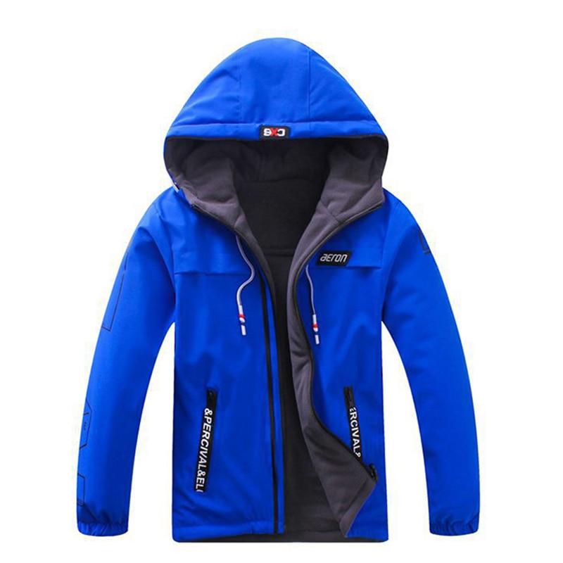 Boys Jackets Children Clothing Children Coat Velvet New 2017 Sport Clothes Waterproof Windproof Size 6 14